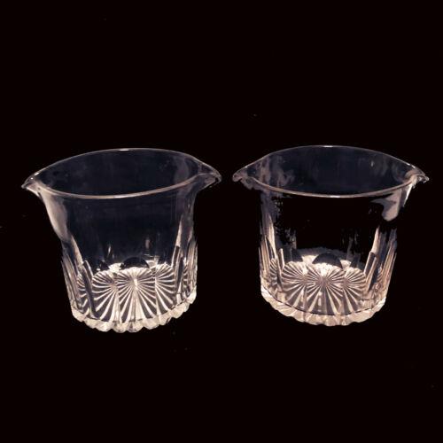 PAIR Antique Regency Cut Crystal Glass Wine Rinser 19th century