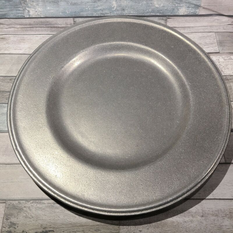 4 Carson Freeport PA Pewter Plate10.5  inches  Made in USA