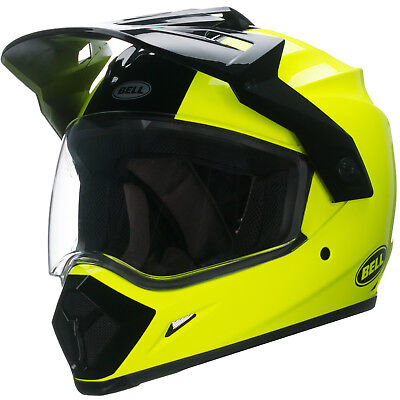 Bell Helmets MX-9  MX Adventure Solid Yellow High Visiblity  Adult Helmet, Small