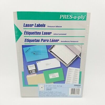 New Same Size As Avery 5160 Shipping Address Labels 3000 Labels Total Nib