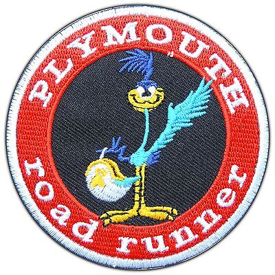 Plymouth Road Runner Bird Cartoon Classic Racing Car Logo Iron-On Patches #0786