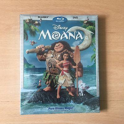 NEW Moana (Blu-ray/DVD, 2017, 2-Disc Set)