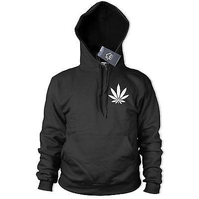 Marijuana leaf Small Pocket Logo Hoodie Drugs Weed Street Emo Smoke Hoody 318 ()