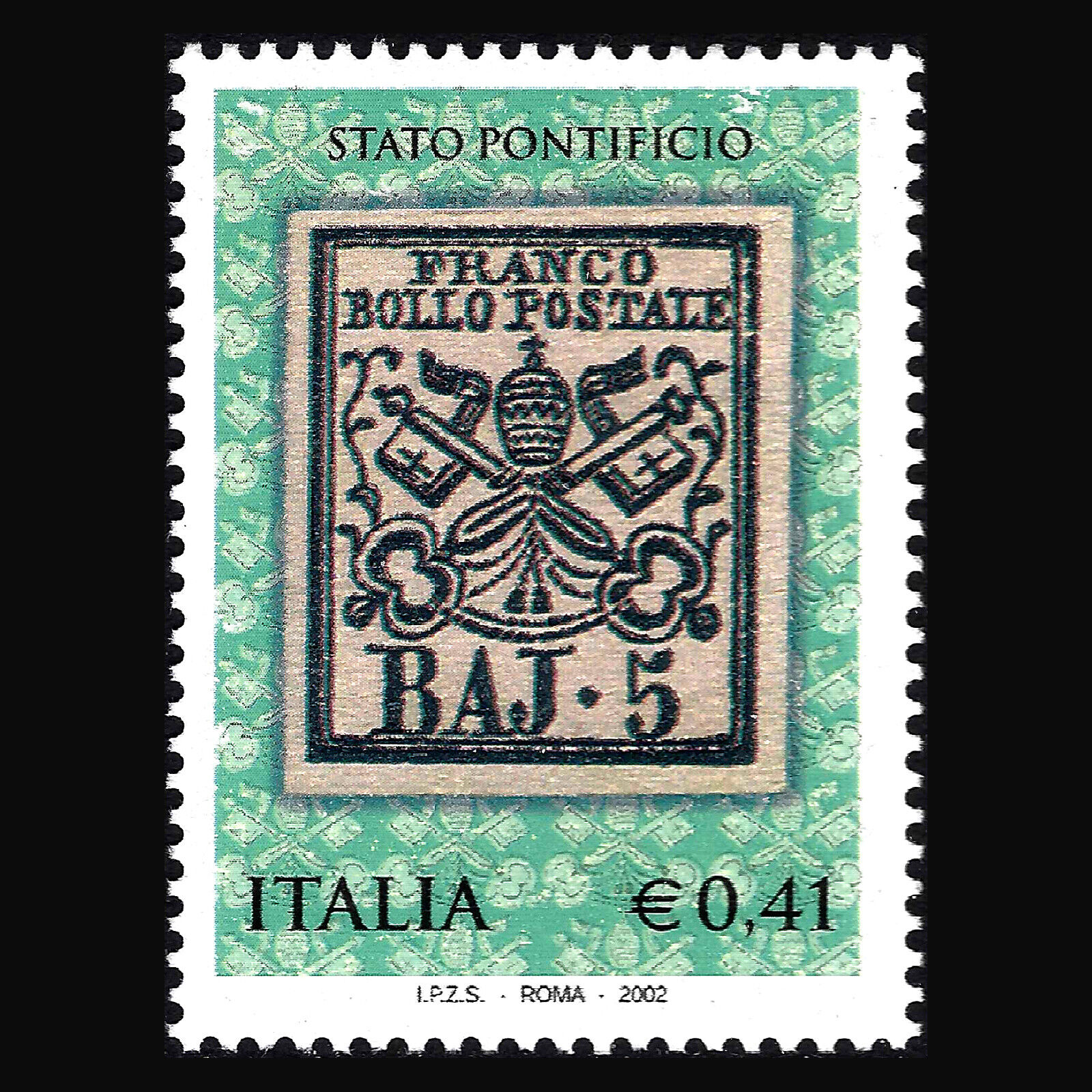 Italy 2002 - 150th Anniversary of First Stamps Roman Stamps - Sc 2514 MNH