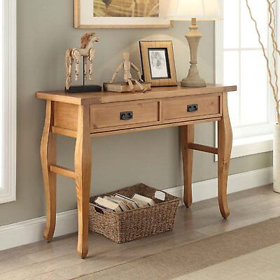 Console Table Rustic Tables For Entryway Living Room Hall With Drawers Narrow ()