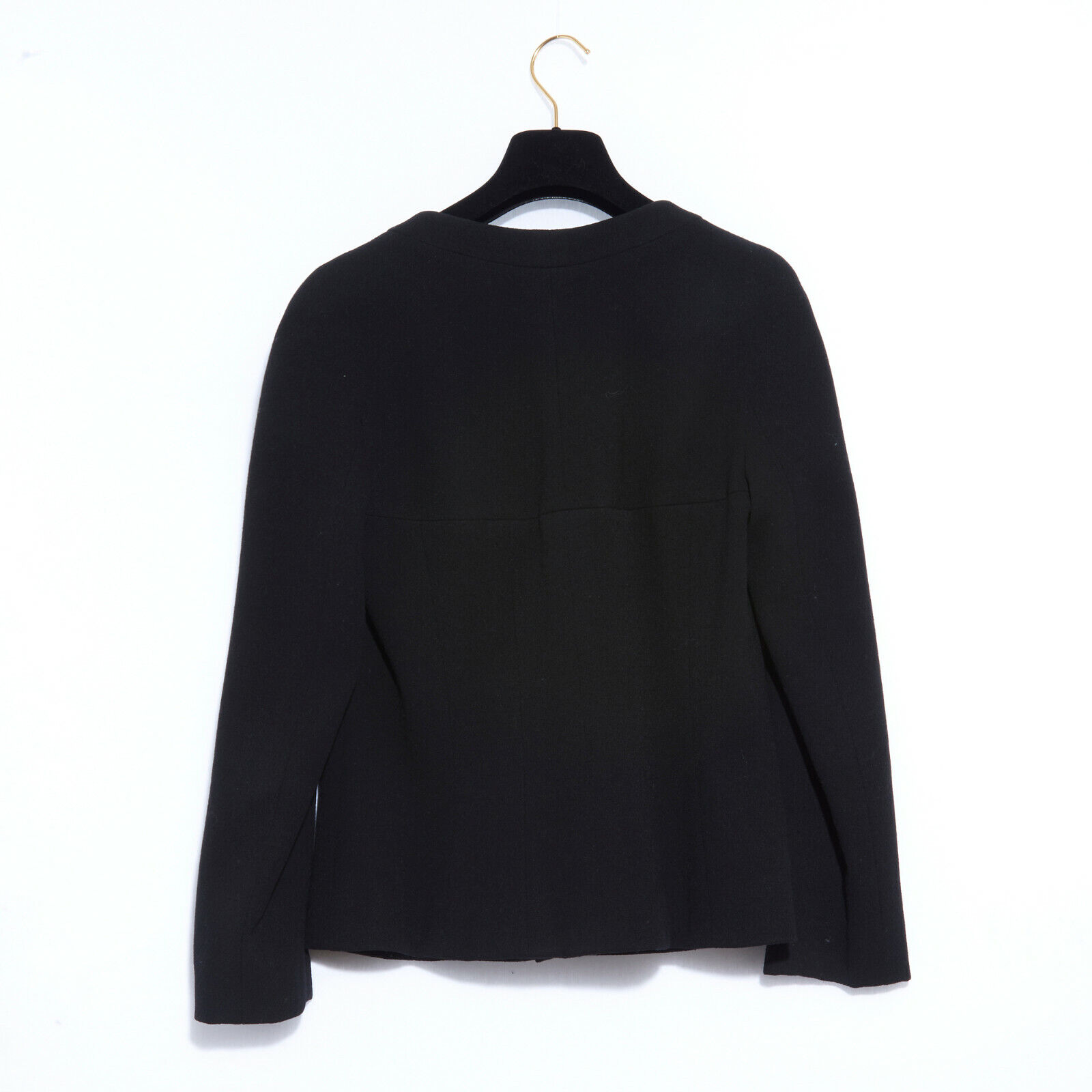 Chanel jacket black crepe fr38