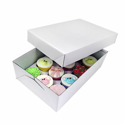 PME Sugarcraft Cupcake Box Standard White with Insert for 12 Cupcakes/Muffins