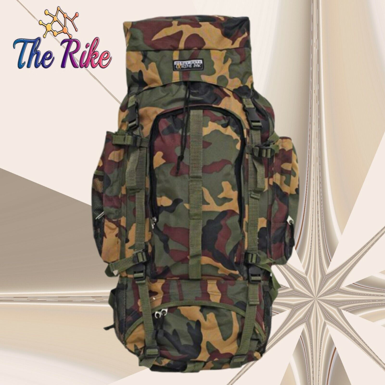 Extreme Pak Big Camo Backpack Water Resistant Hiking Camping Camouflage Large
