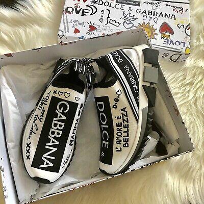 NIB $795 Dolce & Gabbana SORRENTO GRAFFITI PRINT sneakers Dolce & Gabbana Print Heels