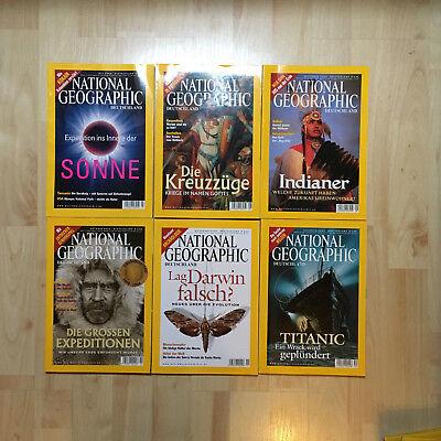 National Geographic Deutschland Magazin, 6 Ausgaben, Juli bis Dezember 2004