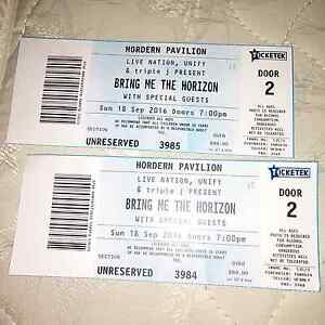 Bring me the horizon tickets Cheltenham Hornsby Area Preview
