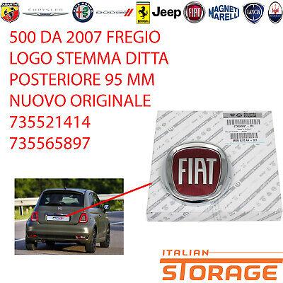 500 De 2007 Friso Logo Emblema Ditta Trasero 95MM Nuevo Original 735521414