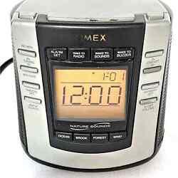 Timex Nature Sounds T300B Digital Tuning Alarm Clock AM FM Radio TESTED/WORKS