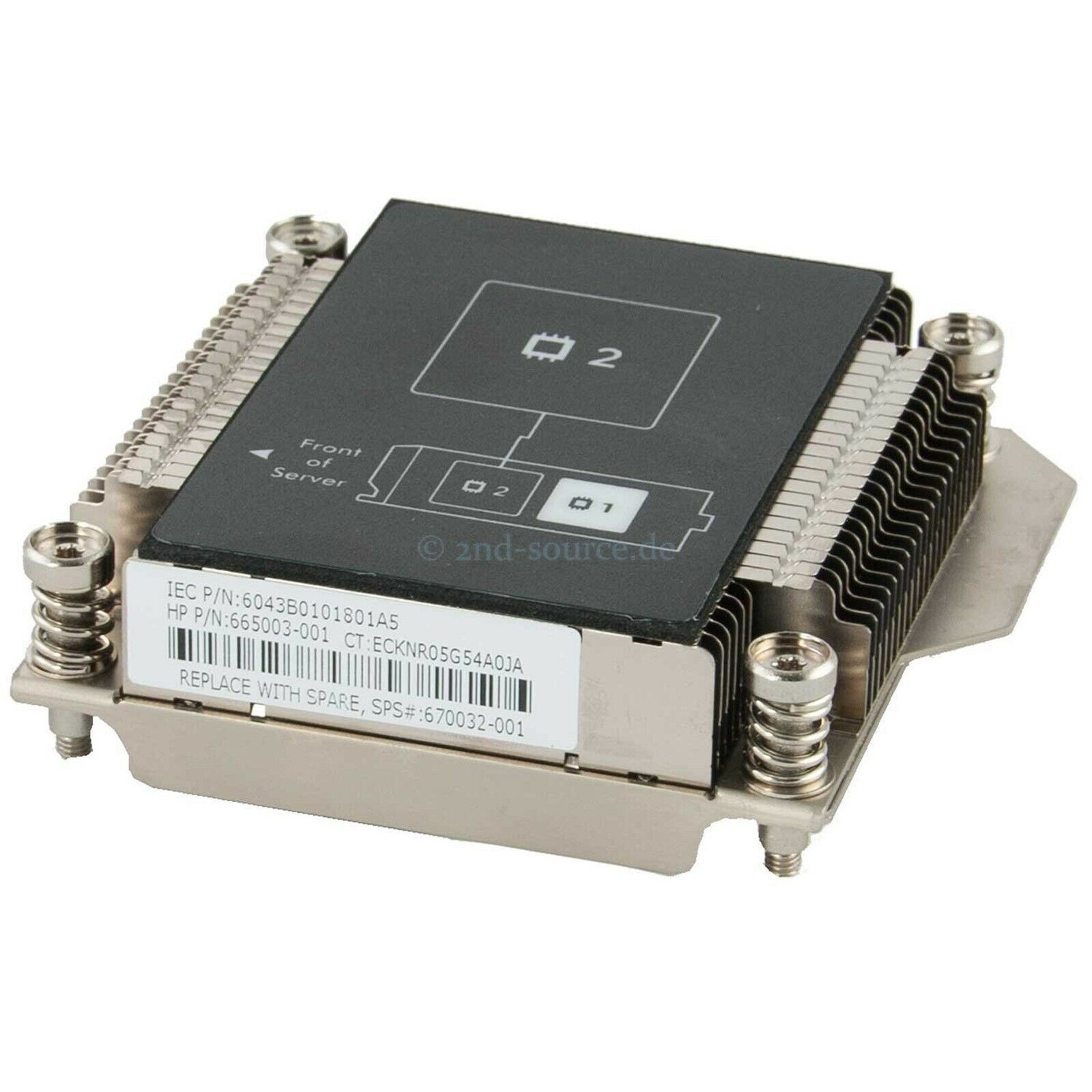 HP 762711-001 CPU 2 Heatsink for Proliant BL460c G8 WS460c G8 665003-005