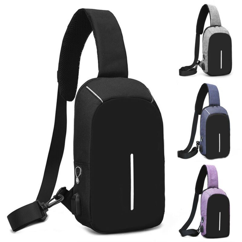 Men Military Sling Bag Chest Pack Messenger Shoulder Travel