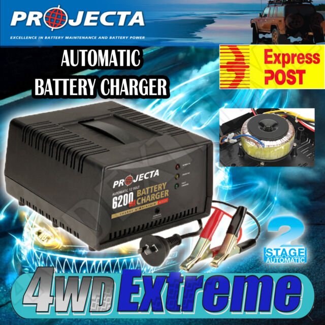 PROJECTA AC1000 12V 6200mA AUTOMATIC 2 STAGE BATTERY CHARGER CHARGE & MAINTAIN