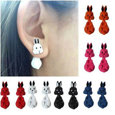 3D Ohrringe Hase Ohrstecker Ohrschmuck Earring Bunny Animal