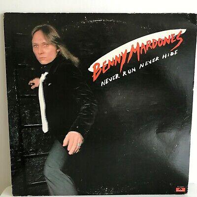 BENNY  MARDONES        LP       NEVER  RUN  NEVER  HIDE    (  PROMO (Never Hide)