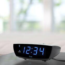 FREE NEXT DAY DELIVERY Equity La Cross 0.9 Blue LED Digital Desktop Alarm Clock