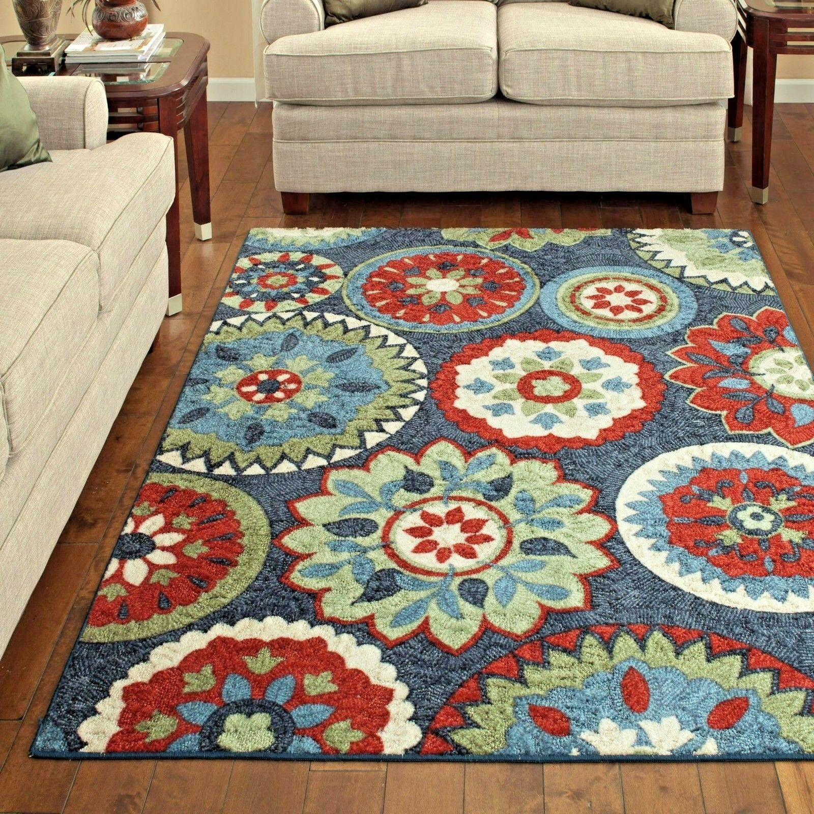 Rugs Area Rugs Carpet Area Rug Floor Modern Floral Large Colorful