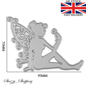 Fairy sitting lace wings metal cutting die cutter UK Seller Fast shipping
