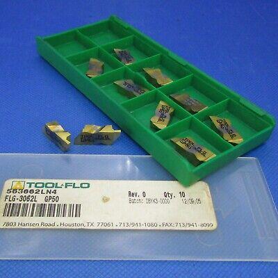 10 Pcs Tool Flo  Flg-3062l  Carbide Grooving Inserts Grade Gp50 Machinist