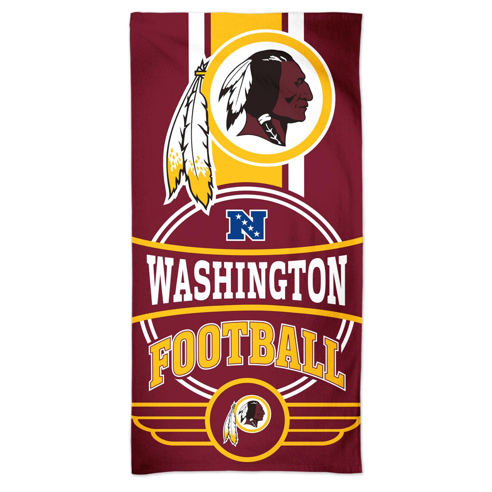 NFL Badetuch Washington Redskins Logo Beach Towel Handtuch 150x75cm 099606284556