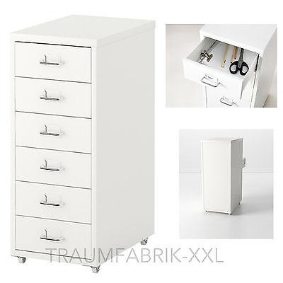 IKEA Schubladenelement Rollcontainer Büroschrank Schrank Schubladenschrank weiß