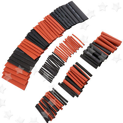 127pcs Black Red Heat Shrink Tubing Kit Set Wire Electrical Sleeving Tube 21