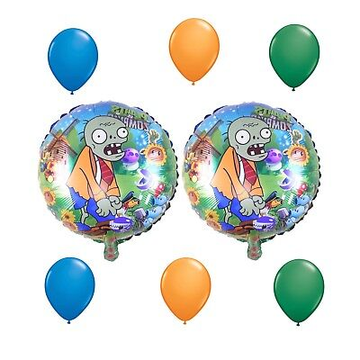 8 Piece Plants Vs Zombies Balloon Bouquet Birthday Party Decorations