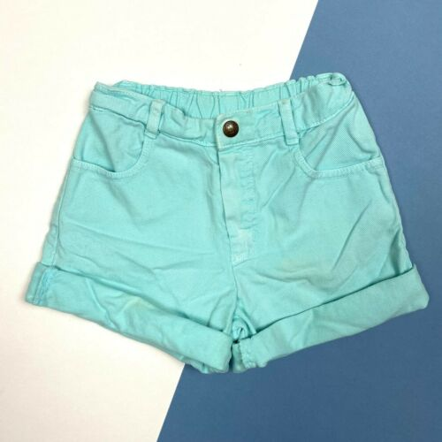 Vintage Guess Mint Sea Foam Green Denim Jean Shorts Toddler Girl 5T