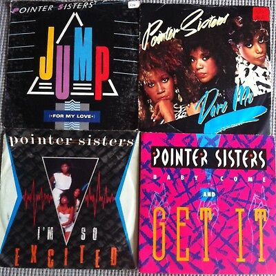 """POINTER SISTERS JOB LOT 4 x 7"""" RARE Vinyl Records UK Jump I'm so Excited Dare Me"""