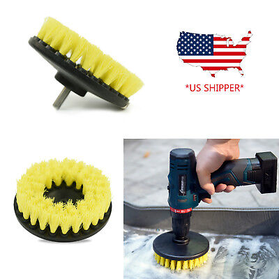 5 inch drill brush for Car Carpet wall and Tile cleaning MEDIUM DUTY(YELLOW)