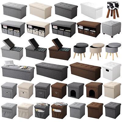 Sitzhocker Sitzwürfel Sitzbank faltbar Hocker Aufbewahrungsbox Truhe Leinen #766 online kaufen