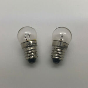 2 x 950 6v 6w MES 6 Volt Screw Bulb