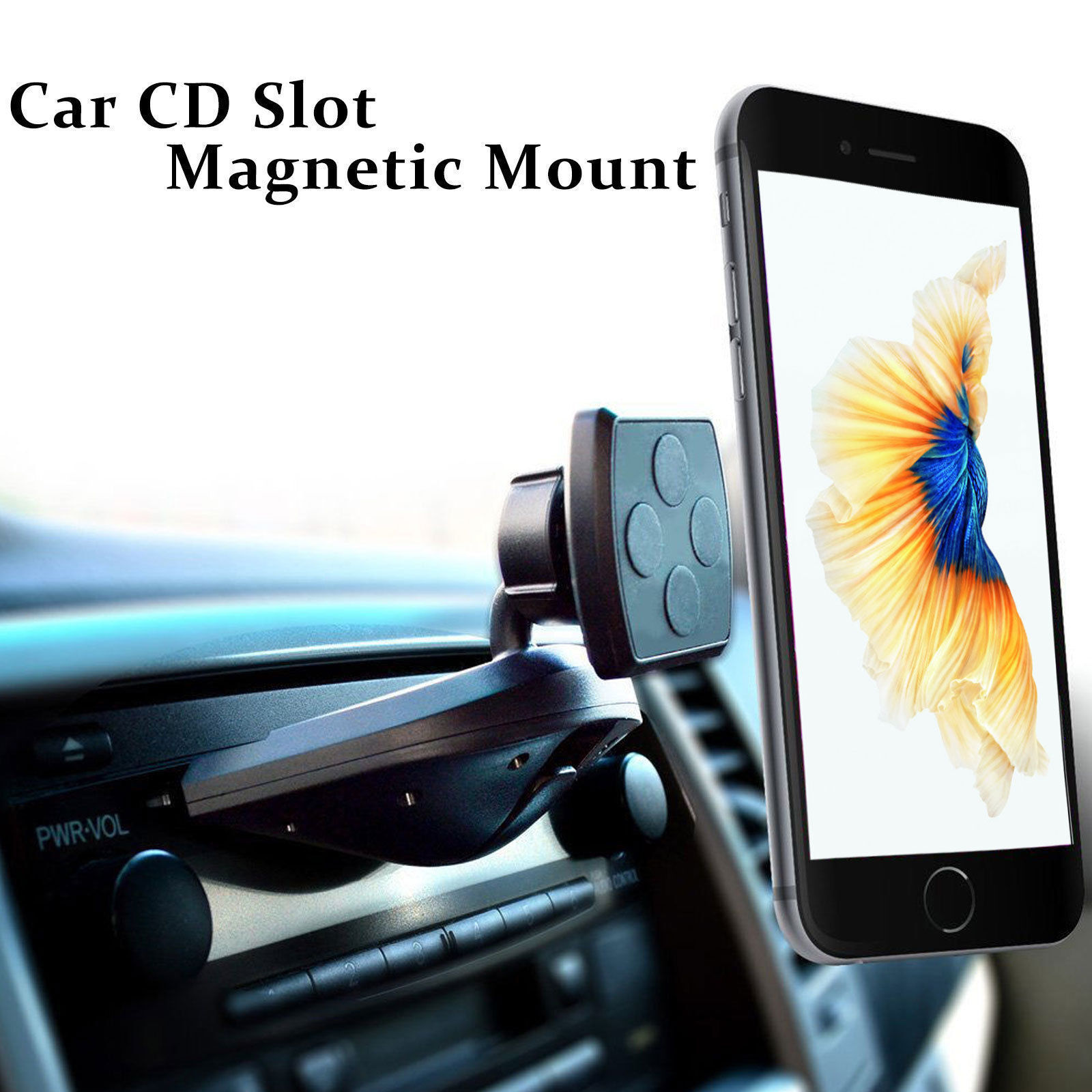 Magnetic Cell Phone Car Holder CD Slot Mount Smartphone Apple iPhone Samsung Galaxy LG Google Motorola