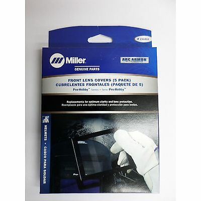 Genuine Miller Pro-hobby Series Front Lens Covers 5 Pack 231411