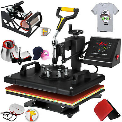 6in1 Digital T-shirt Heat Press Machine Multifunctional Sublimation Swing Away