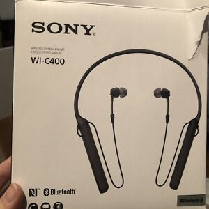 Sony WIC400/B Behind The Neck Style, Wireless Headphone