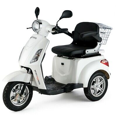 VELECO Easy Rider 3 Wheeled ELECTRIC MOBILITY SCOOTER ZT15 WHITE