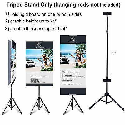 Double-sided Tripod Banner Stand Height up to 71