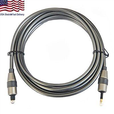 6 Feet Toslink to Digital Optical Audio Cable SPDIF Optic Fiber Mini Plug 3.5mm 3.5 Mini Cable