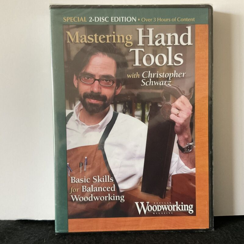Mastering Hand Tools w Christopher Schwarz - 2 Disc Edition DVD Factory Sealed