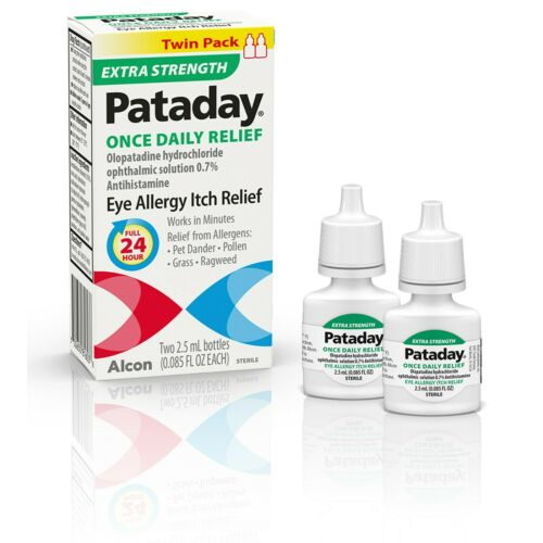 Pataday Extra Strength Once Daily Relief Olopatadine Eye Itch Relief, Twin Pack