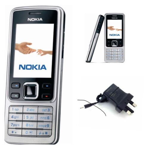 Android Phone - New Classic Nokia 6300 Unlocked Classic Silver Camera Bluetooth Phone WARRANTY