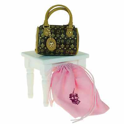 """Designer Faux Leather Handbag Doll Clothes Accessory Fits 18"""" American Girl TQT"""