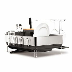 SimplehumanSteel Frame Dish Rack with Wine Glass Holder Crows Nest North Sydney Area Preview