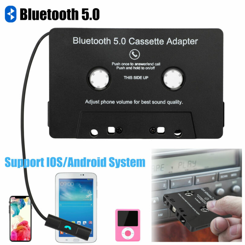 Bluetooth 5.0 Car Audio Stereo Cassette Tape Adapter To Aux for Android Samsung