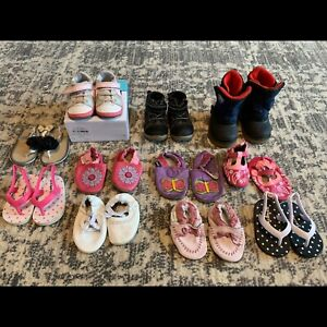 Baby girl shoe lot - size 3 - 11 pairs - $40