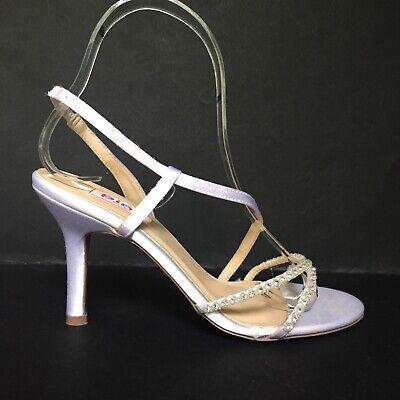 Paradox Pink BLUSH 20% OFF White Satin Crystal Strappy Sandals Bridal Shoes UK 3 Blush Satin Schuhe